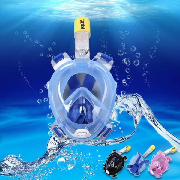 3 Colors Underwater Detachable Dry Scuba Diving Masks 180 Full Face Anti Fog Snorkeling Set with GoPro Camera Mount