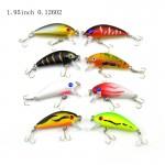 1 Pack 8Pcs 3.6g 5cm Carp Artificial Bait Fishing Lures Wobbler Fish Minnow Bass Lure Crankbait Trout Tackle Hook