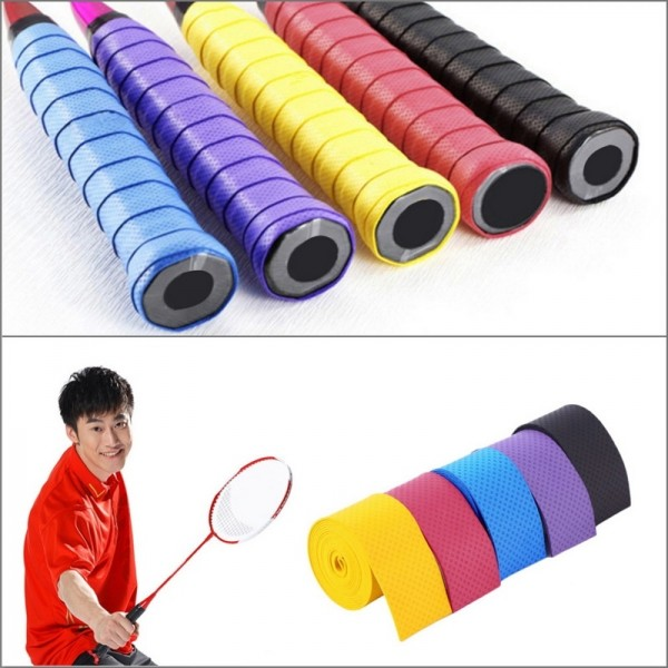 1 Pair  New Racket Overgrips Tennis Badminton Fishing Rods Anti-slip Sweat Absorption Racket Handle Tape Overgrip