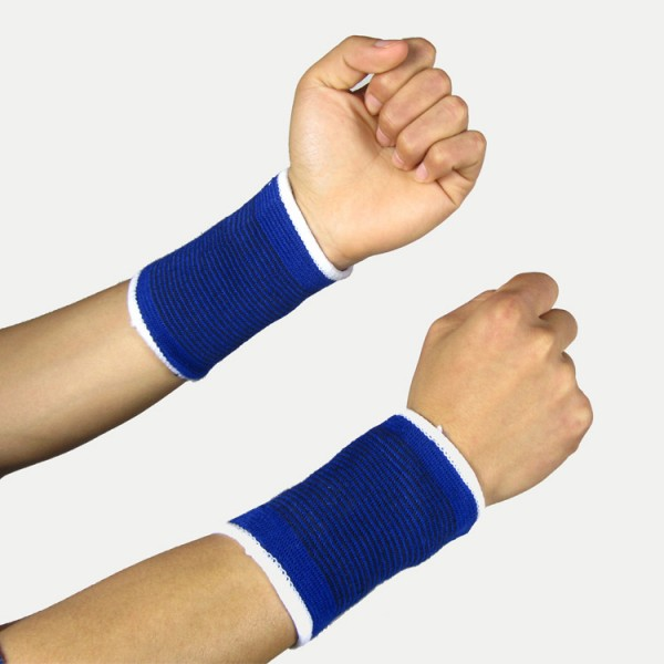 1 Pair 2PC Wristband Wrist Support Glove Elastic Brace Sleeve Sport Bandage Gym Wrap Basketball Volleyball Badminton Wrist Brace