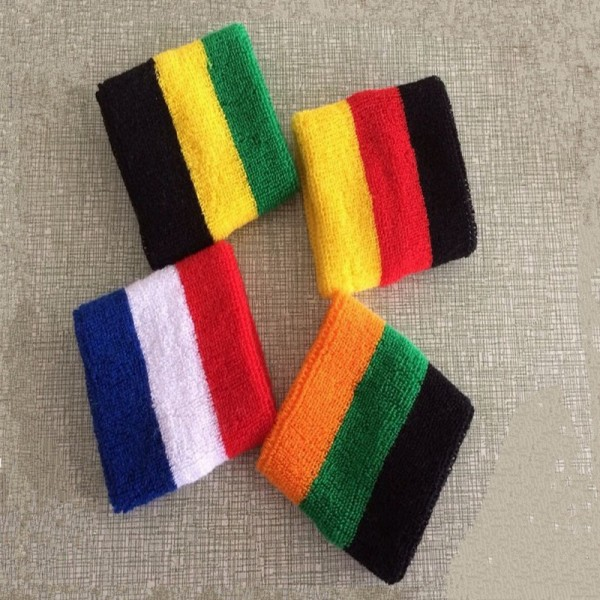 1 Pair New Cotton Striped Wristband Sport Sweatband Gym Badminton Padel Tennis Wrist Brace Carpal Tunnel Support Band Wraps