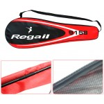 1 Pair Regail 9158 Durable Speed Badminton Racket Battledore Racquet + Carry Bag for Couples Red