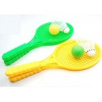 1 pair Novelty Child Dual Badminton Tennis Racket Baby Sports Parent-Child Sports Bed Toy Educational Toys