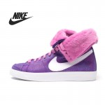 100% original New Nike WMNS BLAZER HIGH ROLL SUEDE women's Skateboarding Shoes 585561-500 High-top sneakers free shipping
