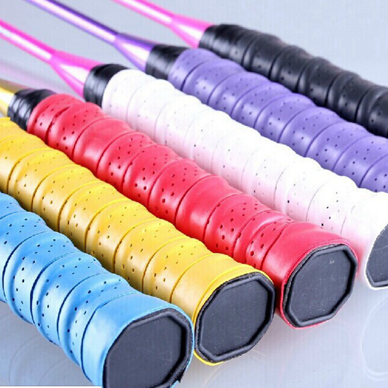10 pcs Absorb Sweat Stretchy Tennis Squash Racquet Band Grips Tape Band Wraps US