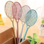 (12 Pieces/Lot) Lovely Badminton Racquet Shape Gel Pens 19.5cm Kawaii School Supplies Material Escolar School Products