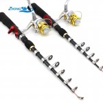 1.65M Fishing Rod Portable Foldable Travel Spinning Fishing Rod Carbon with 1000 Series Sea Fishing Reel Rod Combo Fishing Set