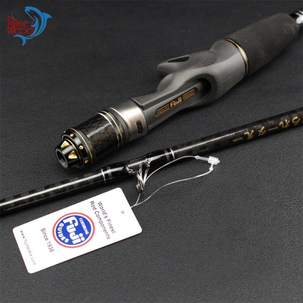 1.95m 6'3'' Light Slow Jigging Casting Lure Carbon Sea Fishing Rod Fish Pole Cane (20-180g, Fast Action) Fuji Fishing Pole Japan