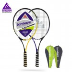 1 Piece Aluminum Carbon Fiber Tennis Rackets Lenwave Brand Sports Training Equipment Free Shipping