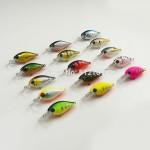 1pc, Crank Bait Plastic Hard Lures 37mm, Fishing Baits, Crankbait,  Wobblers, Plug, Freshwater Fish Lure, Free shipping