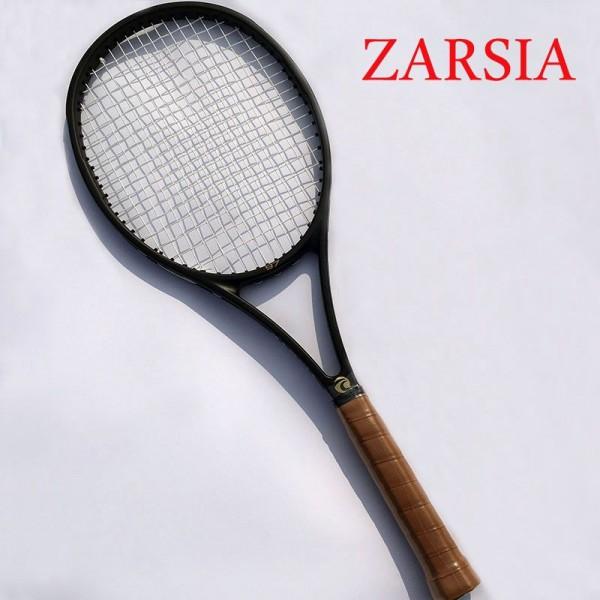 2016 NEW High quality ZARSIA Tennis Racquets 100% graphite tennis rackets Full black 41/4,43/8,41/2 Free shipping