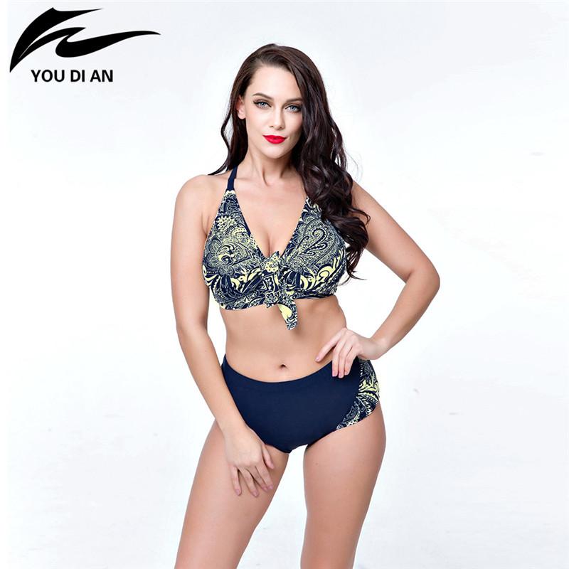 dd657d4e688 2017 New Arrival Plus Size Swimsuit Push Up Swimwear Beach Wear Set Women  Swimsuit Halter Women Swimsuit Plus Size Swimwear