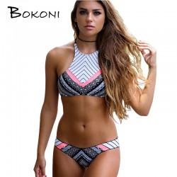 f2351ea78cd17 2017 New Ladies Sexy Bikinis Bathing Suit Women Swimsuit High Neck Bikini  Set Swimming Suits Swimwear