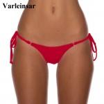 2017 Rose Pink Micro Mini brief female swimwear women sexy Brazilian cut Tanga Bikini Bottom Thong swim panties bathing suit V08