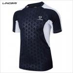 2017 summer new men Tennis shirts Outdoor sports O-neck Quick Dry clothing Running badminton Short t-shirt tops tees