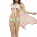 2017New DIY Women Halter Bandage Bikini Set Two Piece Floral print Swimwear Female Bikini Top Swimsuit Summer Beach Bathing Suit