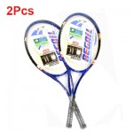 2 Pcs/set Sports Tennis Racket Aluminum Alloy Adult Racquet with Racquet Cover Bag for Beginners Youth Tennis Training Exercises