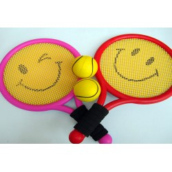(2 Racket and 2 ball) safety kids child children tennis toys bauble outdoor sports play game