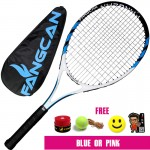 320g Integrated type Carbon tennis racket thread Standard Durable novice beginners men women blue pink free bag ball Hand glue