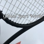 90 sq.in. 319g Pure Black  taiwan 100% graphite customized tennis Racket/Racquet tennis racket Grip size L2,L3 L4