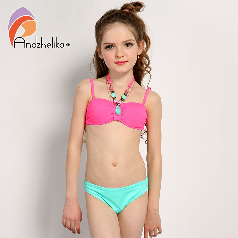 Andzhelika 2017 Summer Children's Swimwear Decoration Neck ...