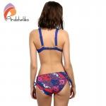 Andzhelika Bikinis Swimsuit 2017 Summer Beach Wear Solid Soft cup Bra Print Bottom Bikinis Set Swimwear Female Swim Suits