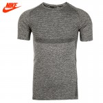 Authentic NIKE DRI-FIT KNIT SS Men's Running Breathable T-shirts short sleeve Sportswear