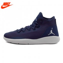 Authentic New Arrival NIKE Men's Breathable Basketball Shoes Sneakers Dark Blue