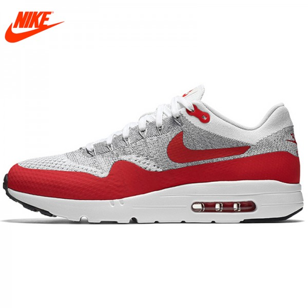 Authentic New Arrival Official NIKE AIR MAX 1 ULTRA FLYKNIT Men's Running Shoes Sneakers