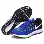 Authentic New Arrival Official Nike Air Zoom Men's Breathable Blue Running Shoes Sneakers