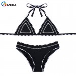 BANDEA women swimsuit sexy women bikini set low waist brazilian bikini halter swimwear knitting bikini set beach wear HA526