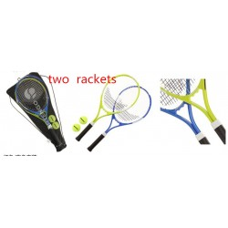Beginner exercises double shot of adult training package tennis racket