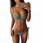 Bikini 2017 New Arrival Swimwear Women Bikini Set Cross Bandage Beach Bathing Top Low Waist Swimsuit Push Up Brazilian Suit #EW