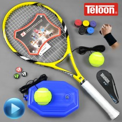 Carbon tennis racket  for beginners single training   single  shot
