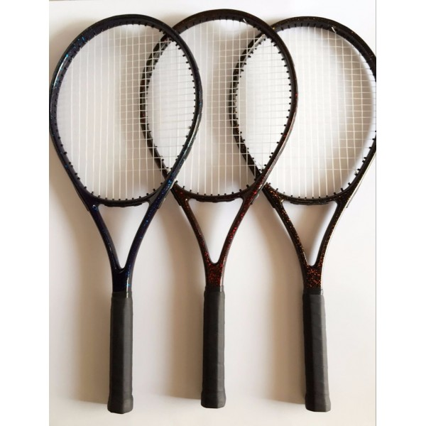 DIY L3 high-end Beginers 55 LBS aluminium alloy Intermediate Training Competing Tennis Racket 1 piece Professional Stable bat