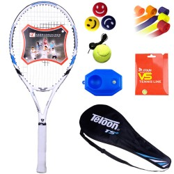 Dragon Teloon tennis racket college students beginner set carbon composite ultra light shock absorber men and women single perso