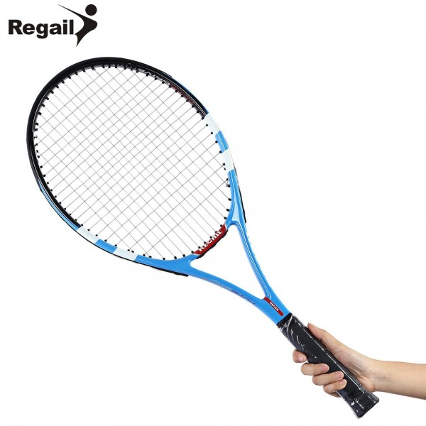 Durable Tennis Racket Carbon Aluminum Alloy Frame Professional Suitable Initial Training