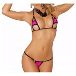 Extremely Sexy Micro Bikini 2pcs Tiny Bathing Suit  G String Thong Swimwear Exotic Dancewear Stripper Hot Bathing Suit
