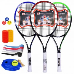 Free Ship Top Quality New Teloon Tennis Racket Carbon Training Rackets for Man Grip: 4 1/4 or 4 3/8 Tennis Racquet  K--R0002