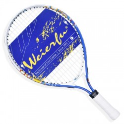 Free of shipping 19 Inch New Junior Tennis Racket Kids Alumium Construction Blue Colored With Cover Pack