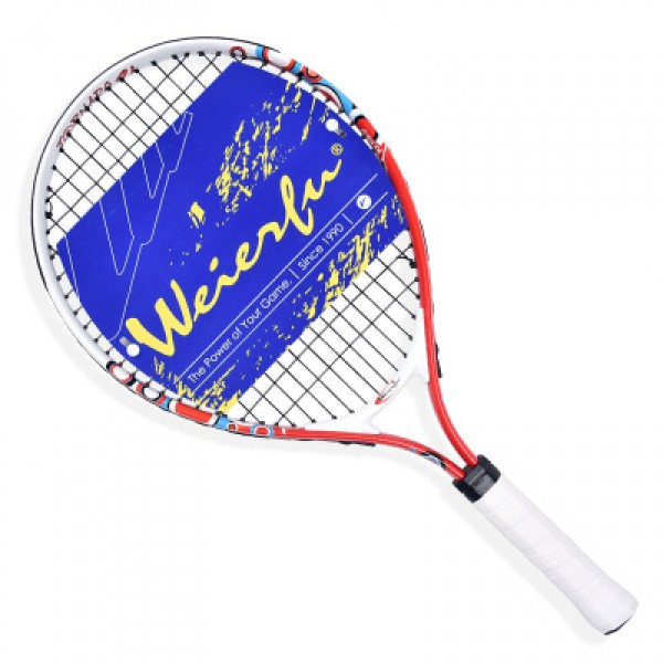 Free of shipping  21Inch New Junior  Tennis Racket Kids Alumium Construction For Training Red Colored With Cover Pack