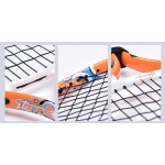Free of shipping 23Inch New Junior  Tennis Racket Alumiun Construction For Training Orange Colored With Cover Pack