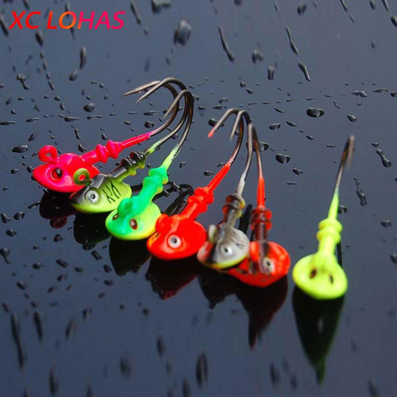 5Pcs Head Hooks Lead Head Hook Lure Hook Jig Head Fishing Tackle Hooks!