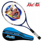Hot 4 Color Ultralight Carbon Aluminum Tennis Racket Adult Student Training Racket with String Free Racket Bag Grip Size: 4 1/4