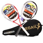 Instock 1 Piece Junior Carbon Tennis Racquet Training Racket for Kids Youth Childrens Tennis Rackets
