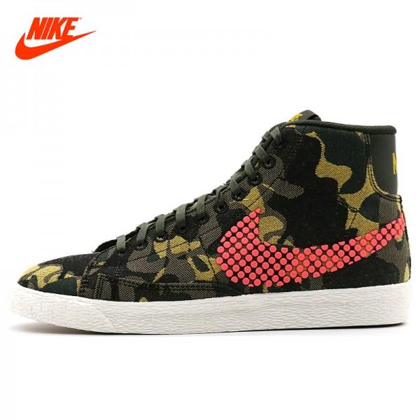 JUVENATE WOVEN Official NIKE Blazer Women's Camouflage Comfortable Skateboarding Shoes Sneakers