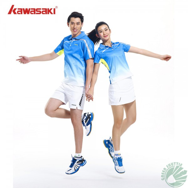 Kawasaki 2017 Breathable Badminton T-Shirts Sport Quick Dry Shirt For Men And Women ST-15117 15111 15101 15202 Clothes