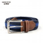 Men Braided Belt  Casual Style Fish Bone Pattern Men's Golf Braided Belts With Wax Rope Material Mixed Color 120 cm 130 cm