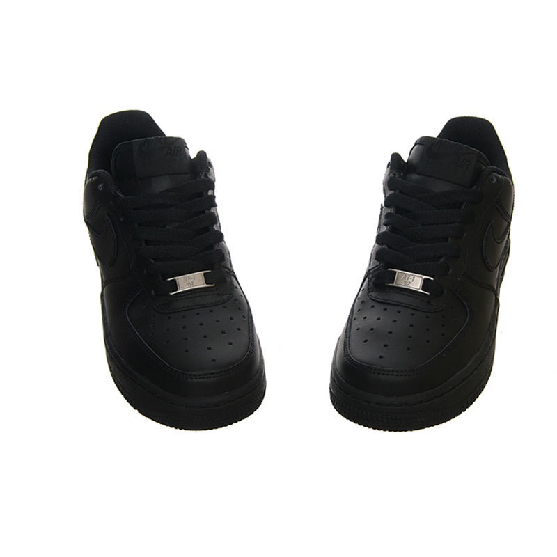 save off 87584 2f097 Nike Air Force 1 GS AF1 Original Woman Classic All Black Anti-skid  Cushioning Breathable Skatebroad Shoes   314192-117
