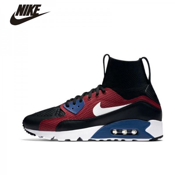 Nike Man Running Shoes Air Max 90 Ultra Super fly H T M Breathable Lifestyle Rubber shoes # 850613-001